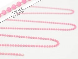 Matte pink ball chain (1 m) - 1.5 mm