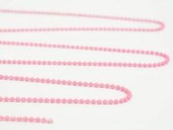 1m chaine bille rose mat 1,5 mm