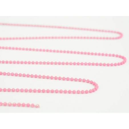 Matte pink ball chain (1 m) - 1.5 mm