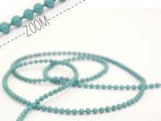1m chaine bille bleu céleste 1,5 mm