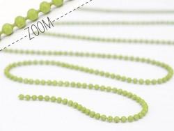 1 m pistaziengrüne Kugelkette - 1,5 mm