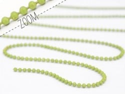 Pistachio green ball chain (1 m) - 1.5 mm