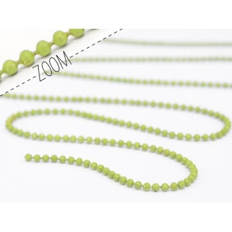 Acheter Chaine bille 1,5 mm vert amande x 20 cm - 0,39€ en ligne sur La Petite Epicerie - Loisirs créatifs