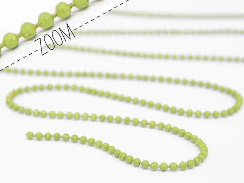 1m chaine bille vert amande 1,5 mm