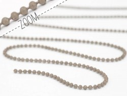 Chestnut brown ball chain (1 m) - 1.5 mm