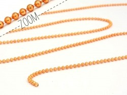 Metallic orange ball chain (1 m) - 1.5 mm