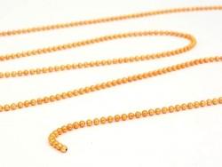 1m chaine bille orange métallisé 1,5 mm
