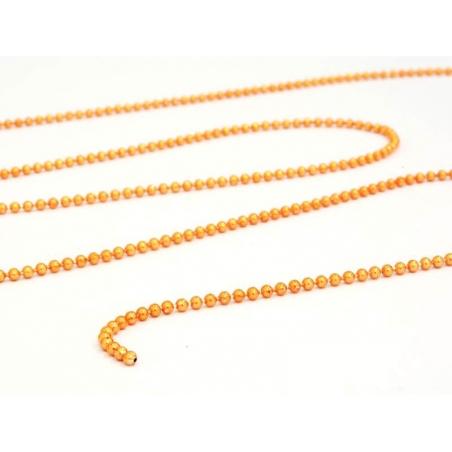 Metallic orange ball chain (1 m) - 1.5 mm