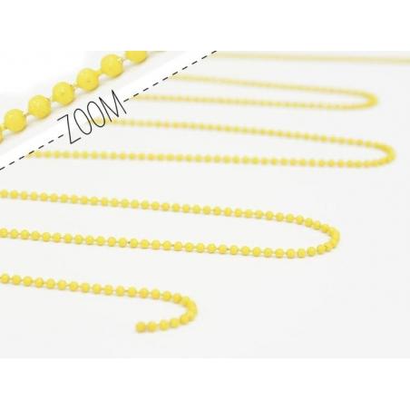 Acheter Chaine bille 1,5 mm jaune mat x 20 cm - 0,39€ en ligne sur La Petite Epicerie - Loisirs créatifs