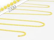 1m chaine bille jaune mat  1,5 mm