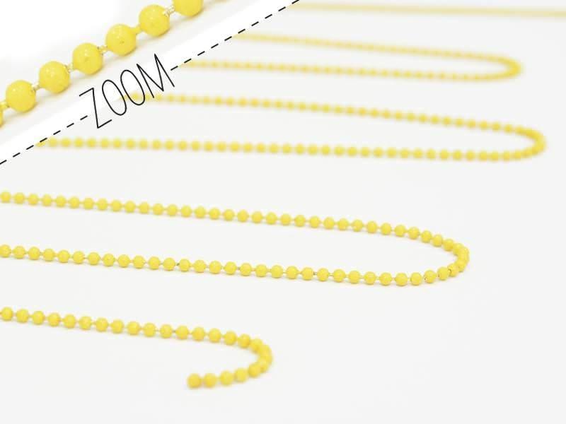 Matte yellow ball chain (1 m) - 1.5 mm