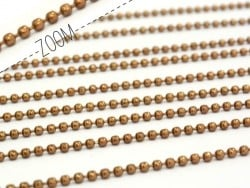 Brown ball chain ( 1 m) - 1.5 mm