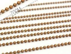 Acheter Chaine bille 1,5 mm marron x 20 cm - 0,39€ en ligne sur La Petite Epicerie - Loisirs créatifs