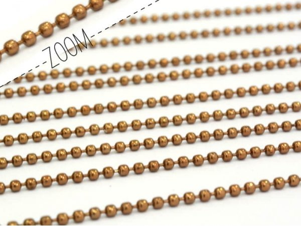 Brown ball chain ( 1 m) - 1.5 mm