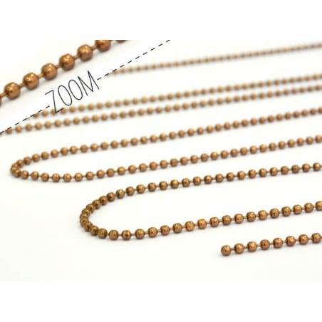 1m chaine bille marron  1,5 mm  - 2