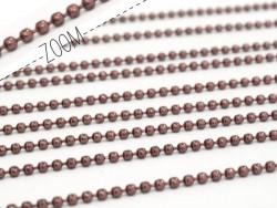 Acheter Chaine bille 1,5 mm lie de vin x 20 cm - 0,39€ en ligne sur La Petite Epicerie - Loisirs créatifs