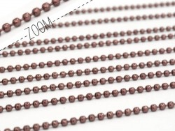 Wine red ball chain (1 m) - 1.5 mm
