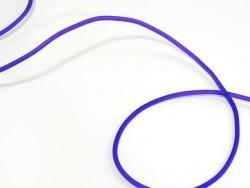 1 m de fil scoubidou en caoutchouc plein - violet semi transparent