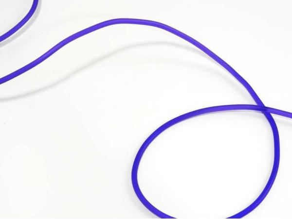 1 m of solid rubber scoubidou string - semitransparent purple
