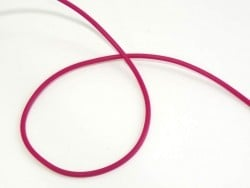 1 m of solid rubber scoubidou string - fuchsia