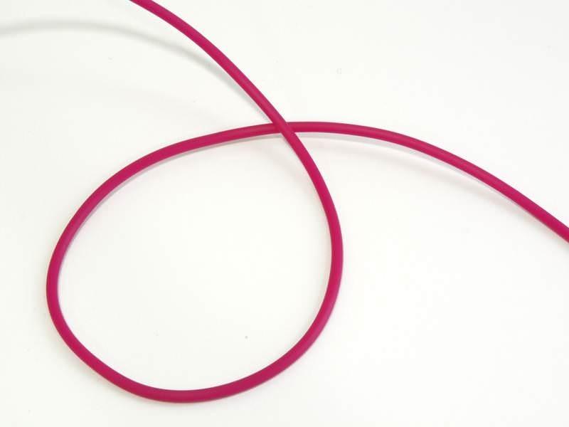 1 m de fil scoubidou en caoutchouc plein - rose fushia