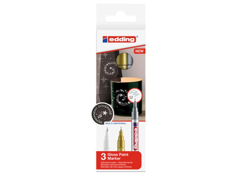 Acheter Lot de 3 marqueurs multi-matières - 0,8mm - 9,95€ en ligne sur La Petite Epicerie - Loisirs créatifs