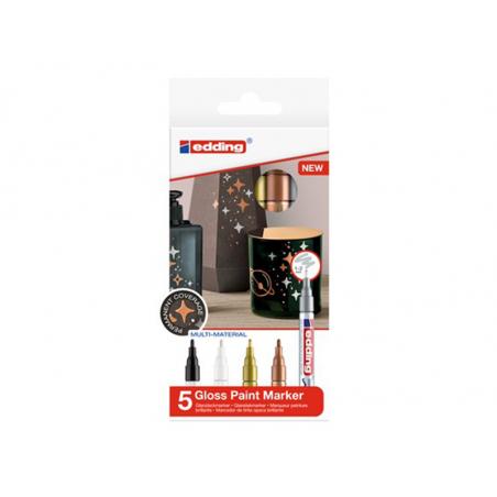 Acheter Lot de 5 marqueurs multi-matières - 1/2mm - 16,29€ en ligne sur La Petite Epicerie - Loisirs créatifs