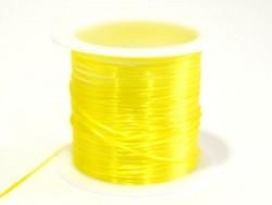 12 m glänzender Gummifaden - neongelb