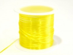 12 m shiny elastic cord - neon yellow