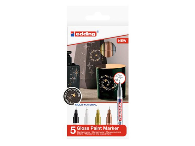 Acheter Lot de 5 marqueurs multi-matières - 0,8mm - 16,25€ en ligne sur La Petite Epicerie - Loisirs créatifs