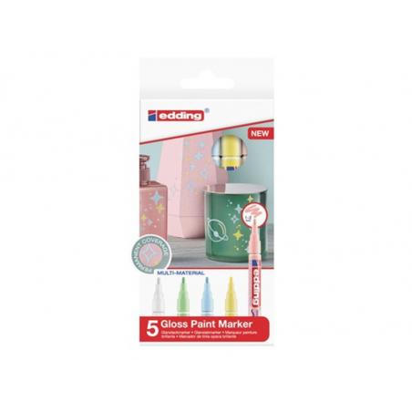 Acheter Lot de 5 marqueurs multi-matières - Pastel - 1/2mm - 16,29€ en ligne sur La Petite Epicerie - 100% Loisirs créatifs