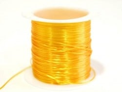 12 m of shiny elastic cord - light orange