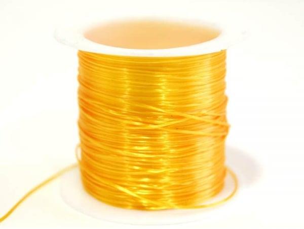 12 m de fil élastique brillant -  orange pale