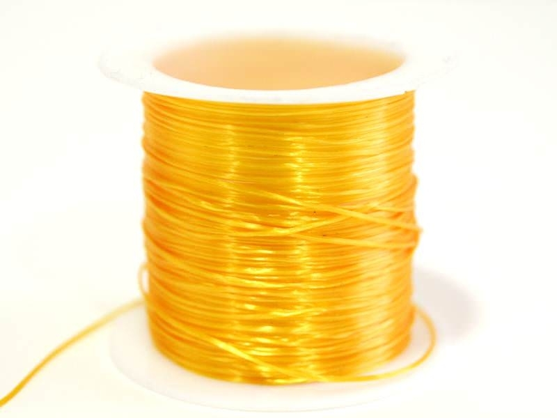 12 m of shiny elastic cord - light orange