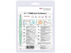 Acheter Set de 12 feutres Tombow double pointe TwinTone - Pastel - 20,09€ en ligne sur La Petite Epicerie - 100% Loisirs cré...