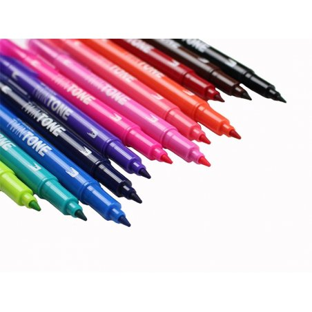 Acheter Set de 12 feutres Tombow double pointe TwinTone - Bright - 20,09€ en ligne sur La Petite Epicerie - Loisirs créatifs