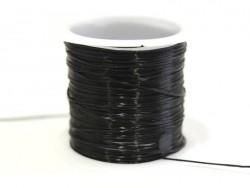 12 m glänzender Gummifaden - schwarz