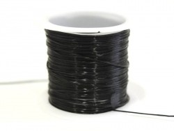 12 m of elastic elastic cord - black