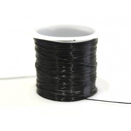 10 m de fil élastique brillant - noir  - 1