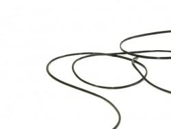 10 m de fil élastique brillant - noir  - 2