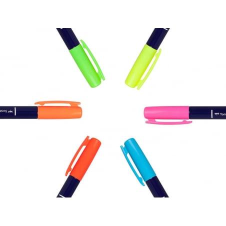 Acheter Set de 6 feutres Fudenosuke Brush Tombow - Neon - 17,59€ en ligne sur La Petite Epicerie - Loisirs créatifs