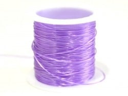 12 m of shiny elastic cord - purple
