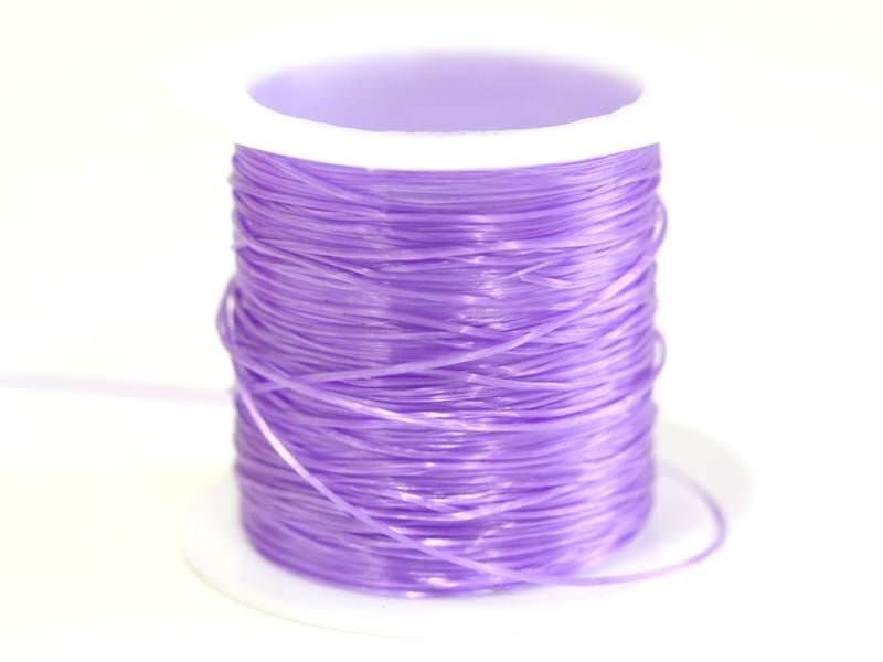 12 m of shiny elastic cord - purple