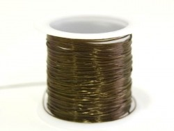 12 m of elastic elastic cord - brown