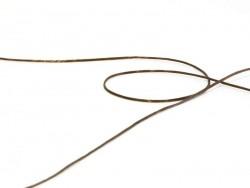 12 m de fil élastique brillant - marron  - 2