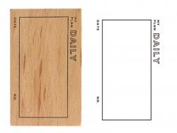 Acheter Tampon pour bullet journal - My daily plan - 2,99€ en ligne sur La Petite Epicerie - Loisirs créatifs
