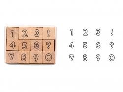 Acheter Lot de 12 tampons - Chiffres - 5,99€ en ligne sur La Petite Epicerie - Loisirs créatifs