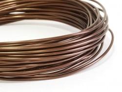10 m de fil aluminium - marron