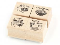Acheter Lot de 4 tampons - Yummy - 4,99€ en ligne sur La Petite Epicerie - Loisirs créatifs