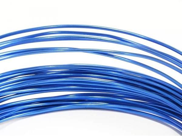 10 m de fil aluminium - bleu  foncé